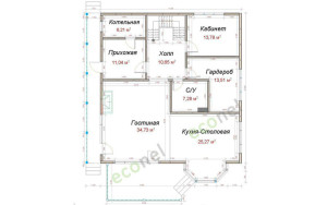 Проект дома 208,1 м.кв.
