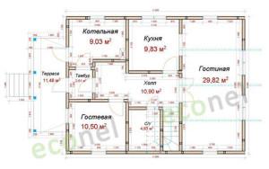 Проект дома 153,4 м.кв.