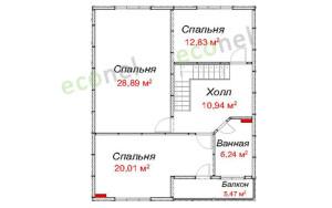 Проект дома 159,1 м.кв.