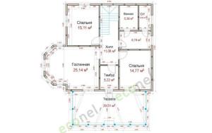 Проект дома 163,6 м.кв.