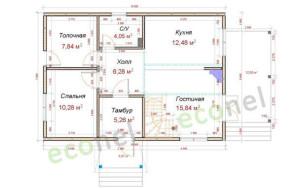 Проект дома 120,7 м.кв.