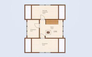 Проект дома 122,6 м.кв. с мансардой