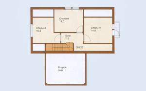 Проект дома 126,0 м.кв. с мансардой