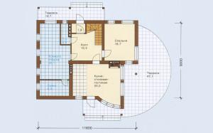 Проект дома 126,3 м.кв. (мансарда)