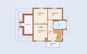 Проект дома 126,8 м.кв. (гараж)