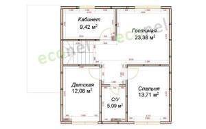 Проект дома 126,9 м.кв.