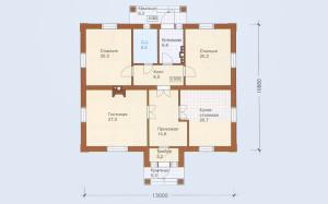 Проект дома 127,3 м.кв.