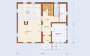 Проект дома 127,7 м.кв. (мансарда)