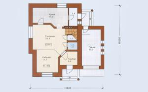 Проект дома 137,0 м.кв. с гаражем