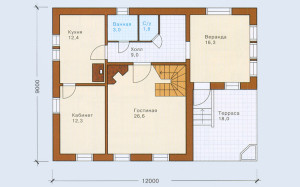 Проект дома 137,1 м.кв. с мансардой