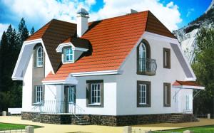 Проект дома 137,3 м.кв. с мансардой