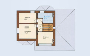 Проект дома 139,8 м.кв. с мансардой и гаражом