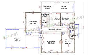Проект дома 144,4 м.кв.