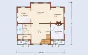 Проект дома 155,0 м.кв. с мансардой