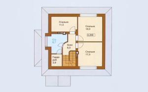 Проект дома 161,4 м.кв. с мансардой