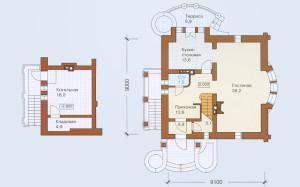 Проект дома 161,7 м.кв. с мансардой