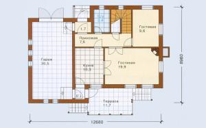 Проект дома 112,4 м.кв. с мансардой и гаражом