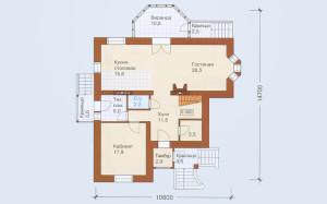 Проект дома 169,8 м.кв. с мансардой