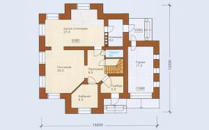 Проект дома 175,0 м.кв. с гаражом