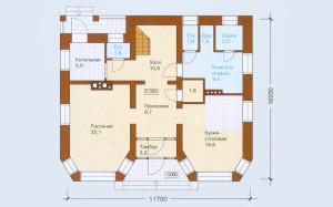 Проект дома 177,2 м.кв. с мансардой