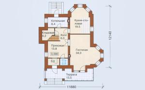 Проект дома 178,7 м.кв.