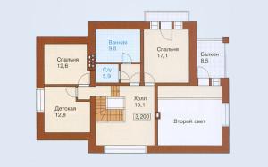 Проект дома 184,4 м.кв. с мансардой и гаражом