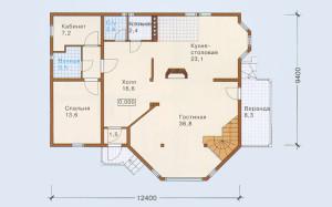 Проект дома 193,4 м.кв. с мансардой
