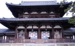 Пример каркасного дома - Храм Хорю-дзи в Японии.