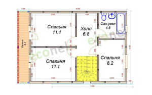 Проект дома 84,4 м.кв.