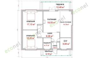 Проект дома 88,3 м.кв.