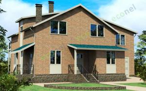 Проект дома 193,3 м.кв. (гараж)